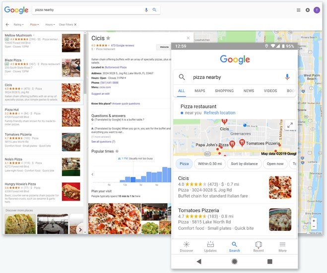Google My Business - Pizza Nearby